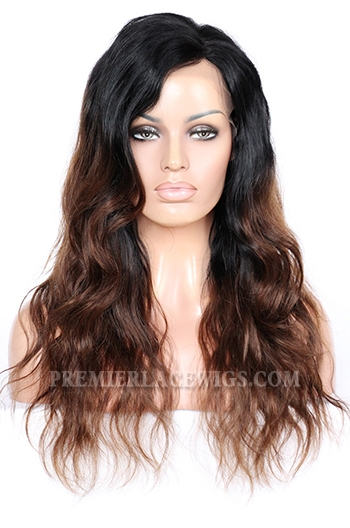 CLFW-29 Rihanna Chocolate Brown Ombre lace front wig