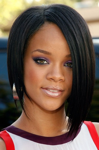 Rihanna Side-swept Asymmetric Bob