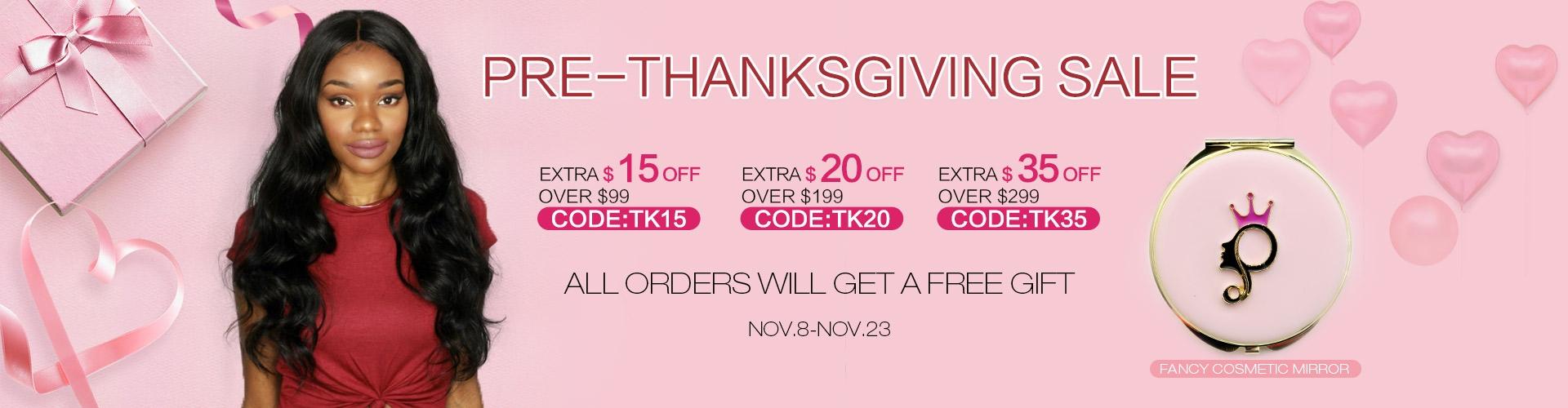 Pre-Thanksgiving sale 2017