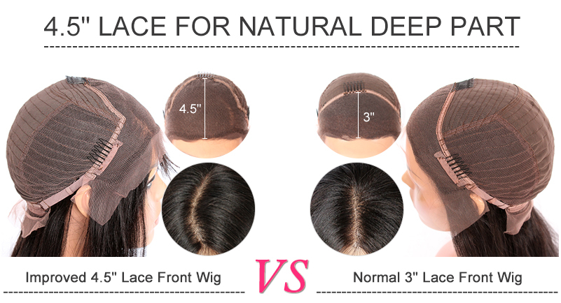 Deep part lace front wigs