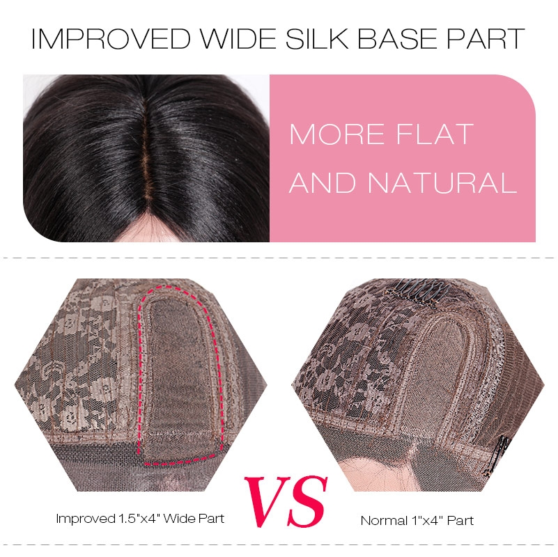 IMPROVED WIDE PART AFFORDABLE SILK BASE WIGS