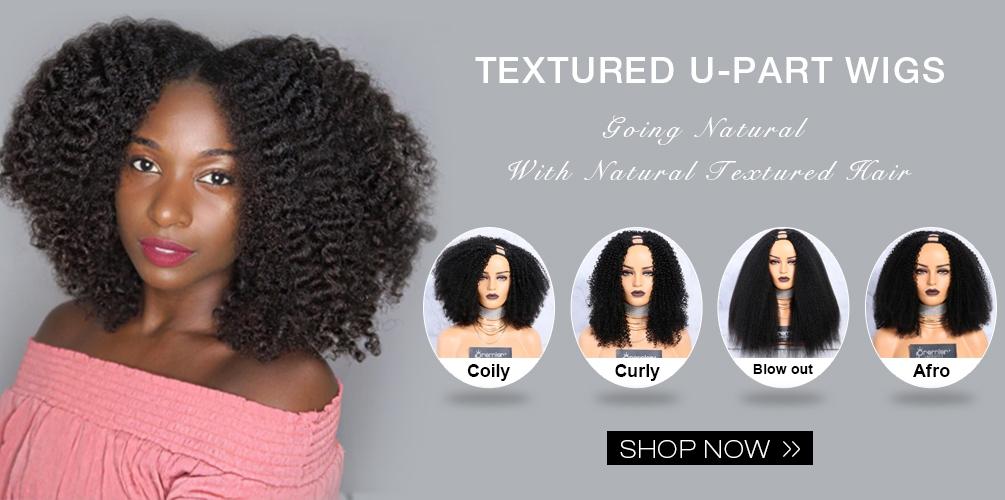 Textured U Part Wigs