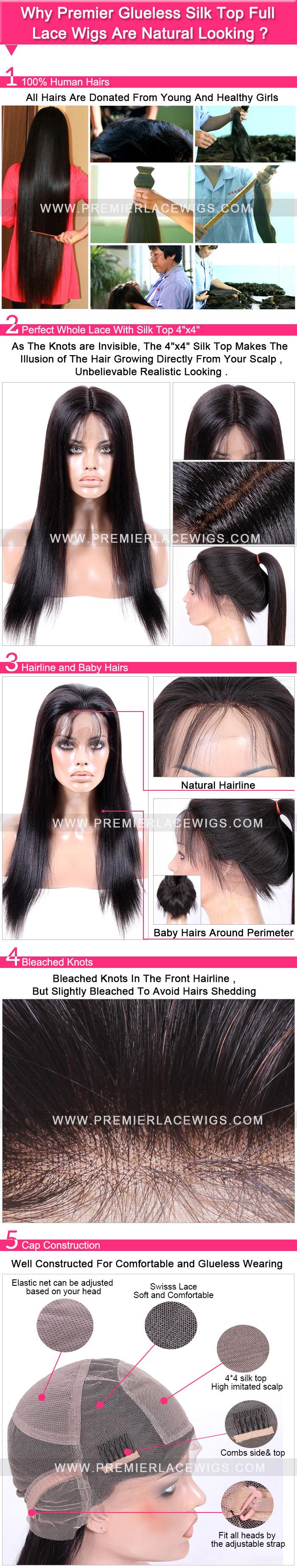glueless silk top full lace wig