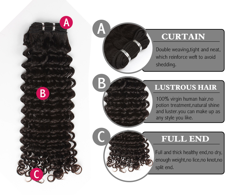 Brazilian virgin hair deep curl