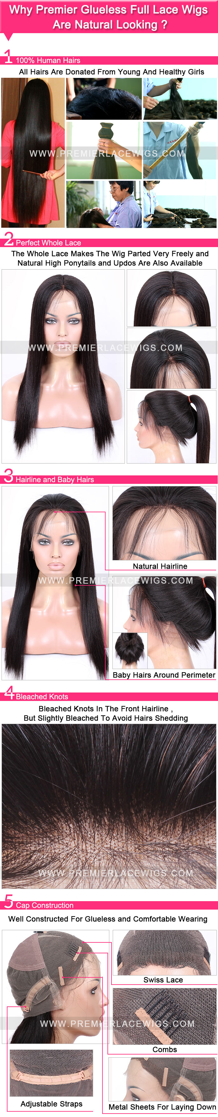 Glueless Full Lace Wig Natural looking