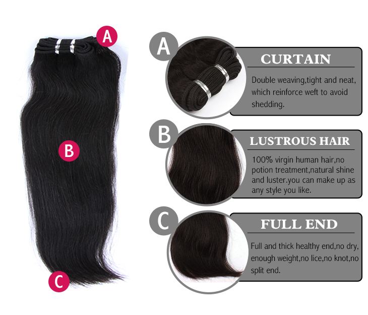 Brazilian virgin hair silky straight